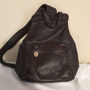 EUC Aurielle Genuine Leather Backpack / Sling Bag
